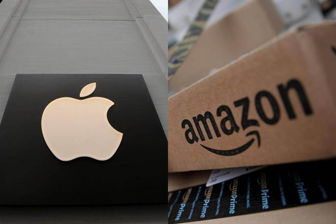 apple, amazon, jeff bezos, steve jobs, tim cook, apple stock, amazon stock, amazon shares, apple share price