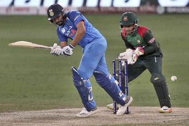 Rohit Sharma's brilliant innings has helped india to be in strong postion against Bangladesh. Men in Blue now 28 rins away from win.