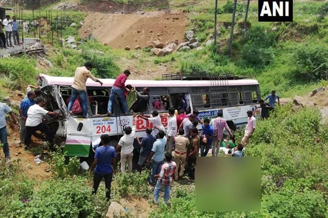 telangana bus accident, telangana news bus accident, bus accident news, bus accident india, bus accident today in india, bus accident in telangana today