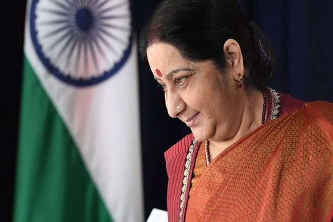 EAM Susham Swaraj, Kartarpur Saheb issue, Kartarpur Saheb news, Susham Swaraj Shah Mahmood Qureshi meet, Kartarpur Saheb update