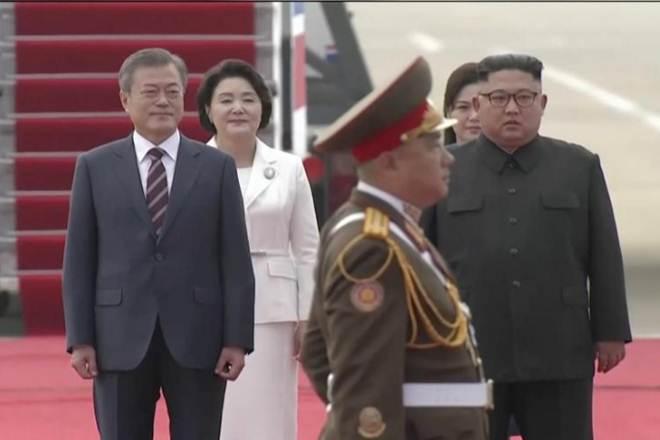 kim jong un meets moon jae, North Korea Top Leader kim jong un, South Korea moon jae