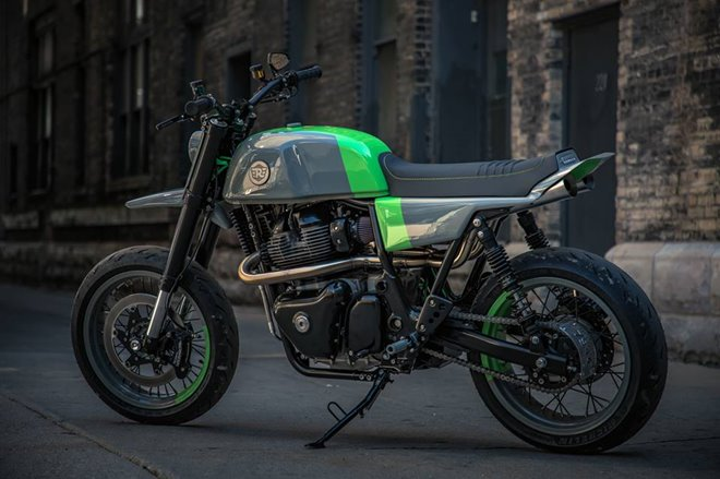 modified royal enfield continental gt 650 grasshopper