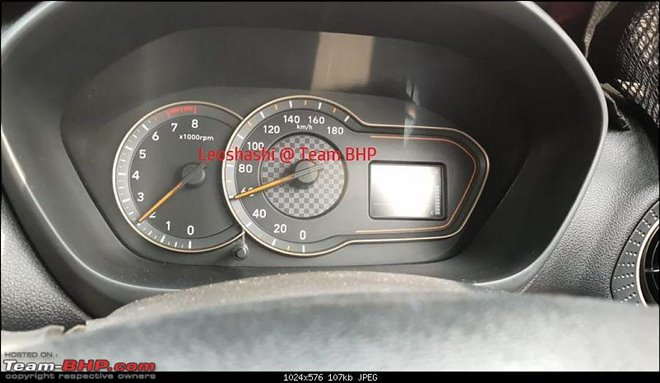 Hyundai Santro Interior Spied - Launch on 23 October Img credit - TeamBHP