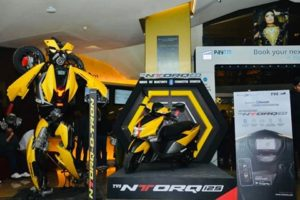 Bumblebee inspired TVS Ntorq looks stunning! Here's where you can see Ntorq-o-tron 'Transformer' in real - The Financial Express