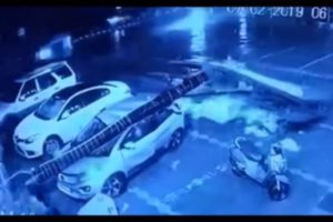 Tata Nexon crushed under billboard pillar, occupants walk out uninjured - video - The Financial Express
