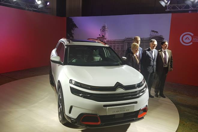 citroen launch live citroen c5 aircross suv expected to be showcased today citroen india. Black Bedroom Furniture Sets. Home Design Ideas